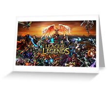 League of Legends all champs Greeting Card