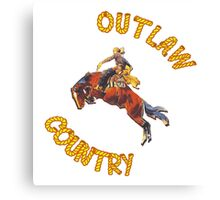 Outlaw Country, Woo! Canvas Print