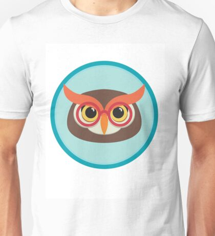 owl head with glasses Unisex T-Shirt