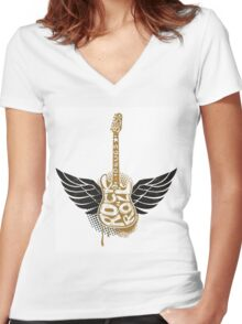Sex, drugs and rock n' roll. Women's Fitted V-Neck T-Shirt