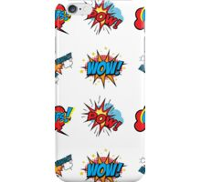 Comic Text seamless pattern. iPhone Case/Skin