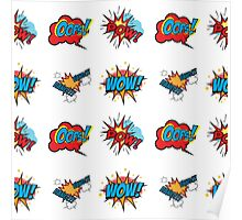Comic Text seamless pattern. Poster