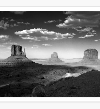 Monument Valley in Black & White  Sticker