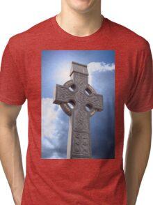 celtic cross head stone Tri-blend T-Shirt