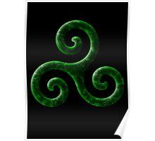 Triskele -green Poster