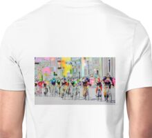 Cycling Down Main Street USA Unisex T-Shirt
