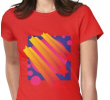 Vaporwave-Comets Womens Fitted T-Shirt