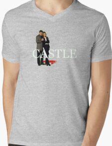Castle and Beckett Mens V-Neck T-Shirt