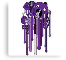 melting faces purple Canvas Print