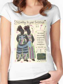Following in your Footsteps Women's Fitted Scoop T-Shirt