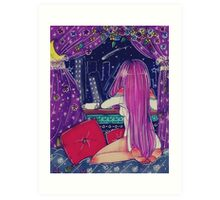 Starlit Night in a Crooked City Art Print
