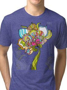 Abstract Art Flower Tri-blend T-Shirt