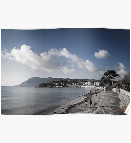 Beach Landscape Southern France Poster