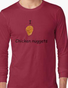 I Heart Chicken Nuggets Long Sleeve T-Shirt