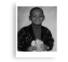 LeBron James (Kid BW) Canvas Print