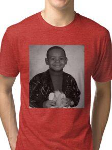 LeBron James (Kid BW) Tri-blend T-Shirt