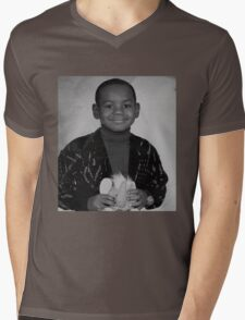LeBron James (Kid BW) Mens V-Neck T-Shirt