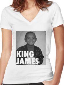Lebron James (KING JAMES) Women's Fitted V-Neck T-Shirt