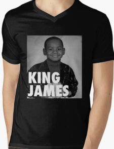 Lebron James (KING JAMES) Mens V-Neck T-Shirt