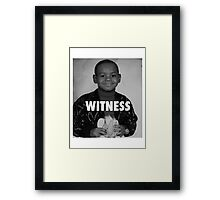 LeBron James (Witness) Framed Print
