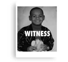 LeBron James (Witness) Canvas Print