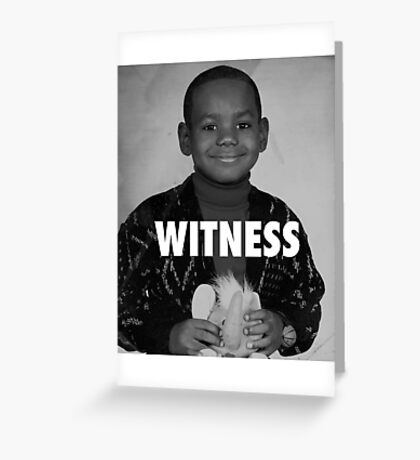 LeBron James (Witness) Greeting Card