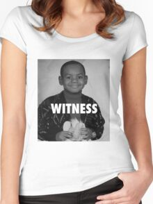LeBron James (Witness) Women's Fitted Scoop T-Shirt
