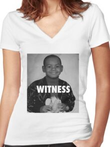 LeBron James (Witness) Women's Fitted V-Neck T-Shirt