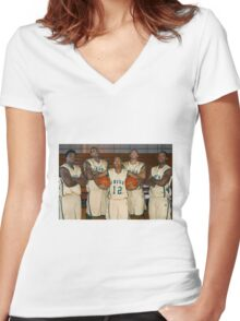 LeBron James (High School Team) Women's Fitted V-Neck T-Shirt