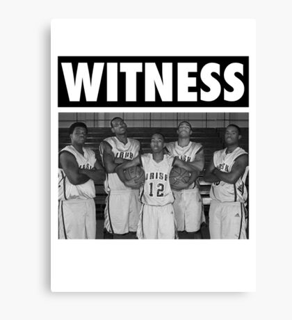 LeBron James (High School Witness) Canvas Print
