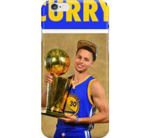 Stephen Curry (Championship Trophy) iPhone Case/Skin