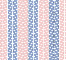 Rose Quartz & Serenity Herringbone by taimichele