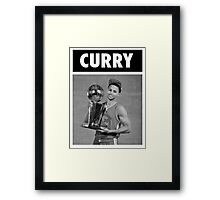 Stephen Curry (Championship Trophy BW) Framed Print