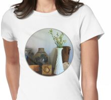 Vase With Wild Flowers Womens Fitted T-Shirt