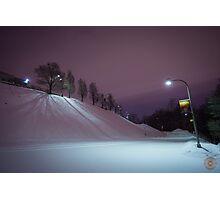 Purple Night - Oratoire St Joseph Montréal Photographic Print