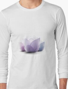 Serenity Lotus Blossoms Long Sleeve T-Shirt