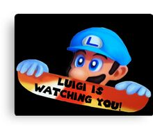 Luigi is watching you! Canvas Print