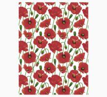 Beautiful Red Poppy Flowers Kids Tee