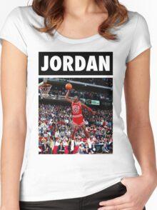 Michael Jordan (Dunk) Women's Fitted Scoop T-Shirt