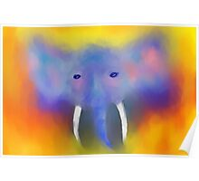 Abstract Elephant  Poster