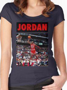 Michael Jordan (Dunk Red) Women's Fitted Scoop T-Shirt