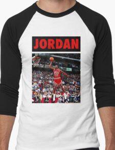 Michael Jordan (Dunk Red) Men's Baseball ¾ T-Shirt