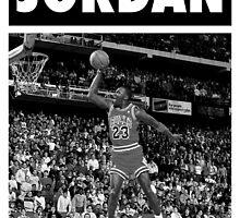Michael Jordan (Dunk BW) by iixwyed