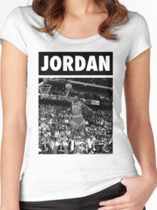 Michael Jordan (Dunk BW) Women's Fitted Scoop T-Shirt
