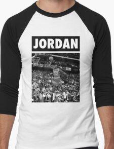 Michael Jordan (Dunk BW) Men's Baseball ¾ T-Shirt