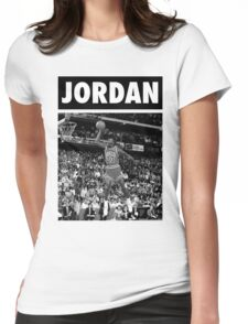 Michael Jordan (Dunk BW) Womens Fitted T-Shirt
