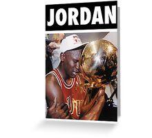 Michael Jordan (Championship Trophy) Greeting Card
