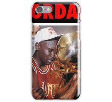 Michael Jordan (Championship Trophy Red) iPhone Case/Skin
