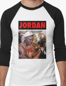Michael Jordan (Championship Trophy Red) Men's Baseball ¾ T-Shirt