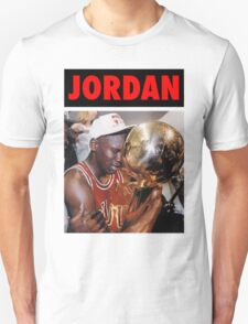 Michael Jordan (Championship Trophy Red) T-Shirt